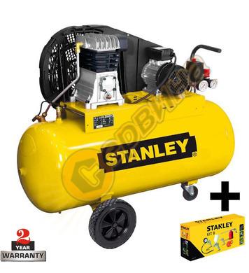 Маслен компресор Stanley B251-10-100 - 100л / 10бара + компл