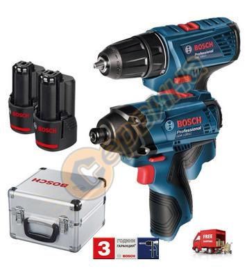 Комплект акумулаторни машини Bosch GSR 120 Li 06019F0003 + G