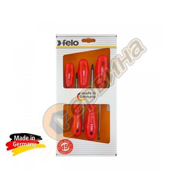 Комплект професионални отвертки Felo S200 200 951 98 - 5бр