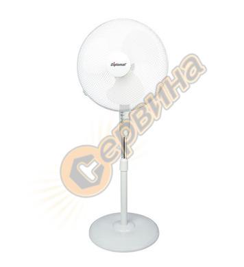 """Вентилатор Diplomat FSWH 1633 KN – 50W 16"""" стоящ - бял"""
