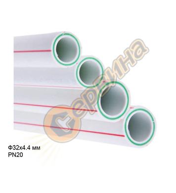 ППР тръба със стъклофибри Pestan ф32х4.4мм PN20 SDR 6 - 1мет
