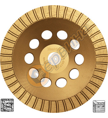 Диамантен диск Makita 180x22,23мм D-62359