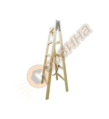 Дървена стълба двураменна 2х9бр 0280 - 2.80 м