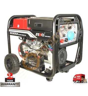 Заваръчен бензинов генератор SENCI SC-200А SC1004876 - 5KW/5