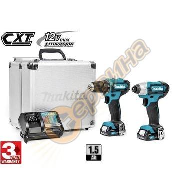 Комплект акумулаторни винтоверти Makita CLX201X - 12V/1.5Ah
