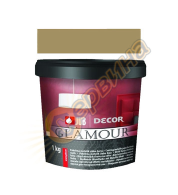 Цветна гелна маса - златна JUB Decor Glamour J125 - 650мл