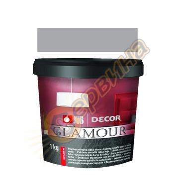 Цветна гелна маса - сребърна JUB Decor Glamour J126 - 650мл