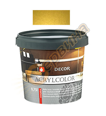 Цветна гелна маса - златна JUB Decor Acrylcolor J128 - 750мл