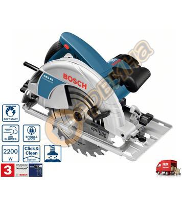 Ръчен циркуляр Bosch GKS 85 060157A000 - 2200W