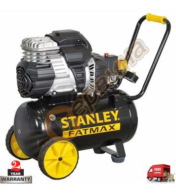 Безшумен компресор Stanley S244-8-24 - 24л/62dB/8бара