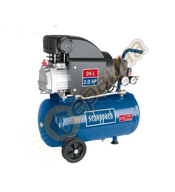 Компресор HC25o + 13 броя аксесоари Scheppach 1100W - 24L 59
