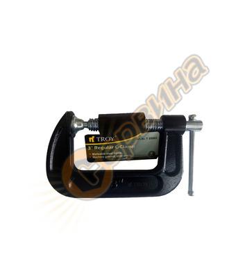 Дърводелска C-образна стяга Troy T25063 76 mm (3
