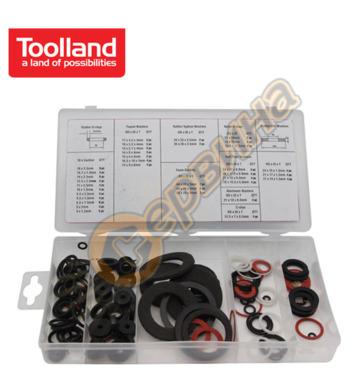 Комплект шайби  Toolland 125 броя  TLN HAS01