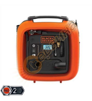 Портативен въздушен компресор Black&Decker ASI400 - 160PSI/1