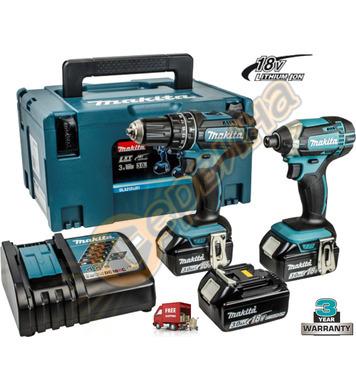 Комплект акумулаторни машини Makita DLX2131JX1 - 18V/3.0Ah L