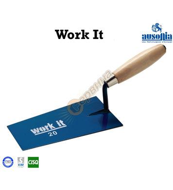 Мистрия с дървена дръжка Work-It Ausonia AU41146 - 16 см