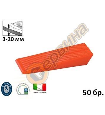 Клин за система за изравняване на плочки подови настилки D-L