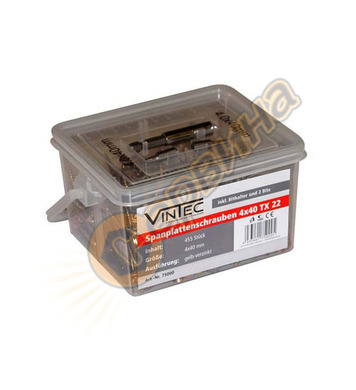 Комплект видии - винтове Vintec  4x40mm, 455 броя  75000