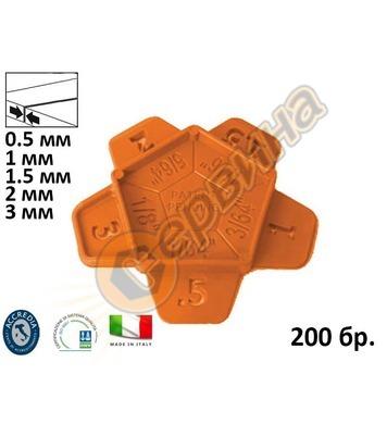 Клин-дистанционер за плочки Dovaro 8880B - 200бр 0.5-1-1.5-2