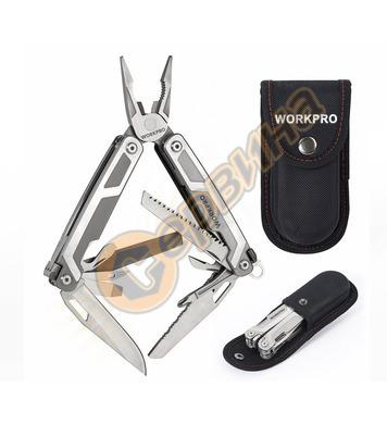 Многофункционален джобен инструмент Workpro 16 в 1 HGS W0140
