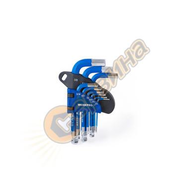 Комплект шестограмни ключове Workpro 9 бр.  W022016