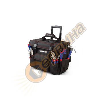 Комплект инструменти в чанта на колелца Workpro 86 части + 9