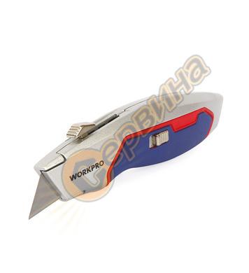 Обезопасен макетен нож  Workpro W013015