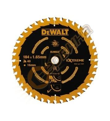 Циркулярен диск за дърво DeWalt 184x16.0мм DT10303