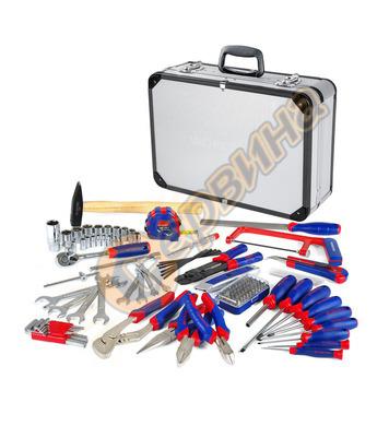 Комплект инструменти в алуминиев куфар  Workpro 119 части W0