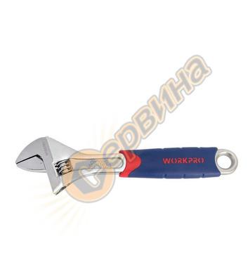 2 в 1 Регулируем и Тръбен ключ Workpro 200мм 8