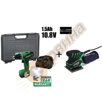 Акумулаторен винтоверт HiKoki-Hitachi DS10DAL - 10.8V/1.5Ah/