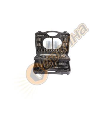 Комплект накрайници за отвертка и свредла 176 части W124015