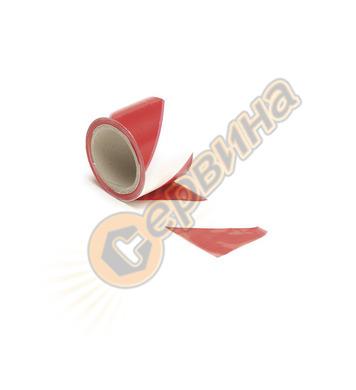 Сигнална лента - червено и бяло Perel 100м x 80мм 1187-100