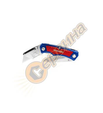 Двустранен сгъваем нож Workpro W011011