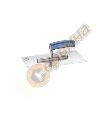 Маламашка Inox назъбена Perel HE207006 - 28х12см