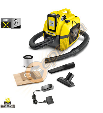 Акумулаторна прахосмукачка Karcher WD 1 Compact Battery Set