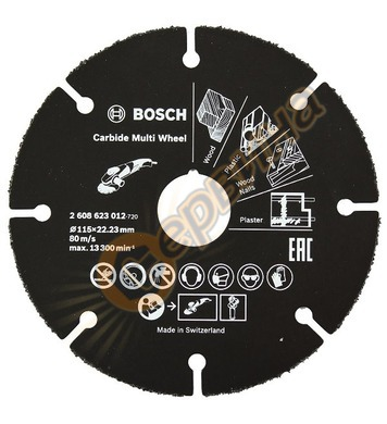 Отрезен карбиден диск Bosch Multi Wheel 2608623012 - 115x22.