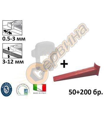 Клин и основа за система за изравняване на плочки подови нас