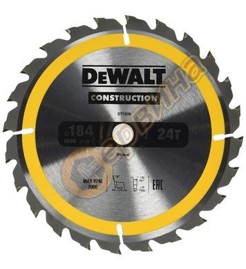 Циркулярен диск за дърво DeWalt 184x16.0мм DT1939