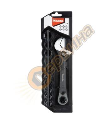 Раздвижен гаечен ключ с комплект вложки Makita B-65458 - 200