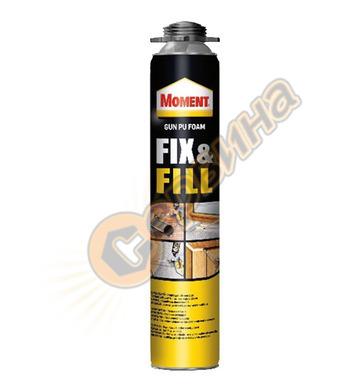 Пистолетна монтажна полиуретанова пяна Moment Fix & Fill Gun