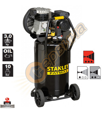 Маслен компресор Stanley B350-10-90V - 90л / 10бара