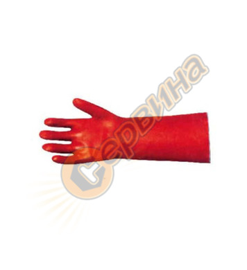 Ръкавици киселинно устойчиви PVC 35см Redstart-6035 0006-06