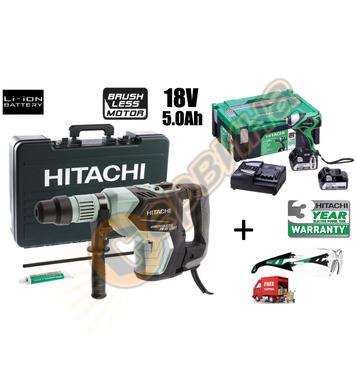 Комбиниран перфоратор HiKoki-Hitachi DH40MEY-WS + Акумулатор