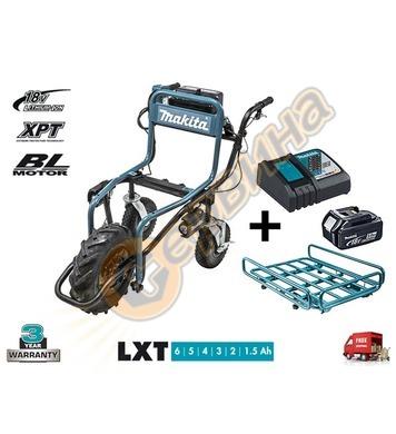 Акумулаторна строителна количка Makita DCU180Z + Олекотен ре
