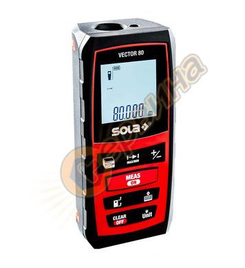 Противоударна лазерна ролетка с LCD дисплей Sola Vector 80 7