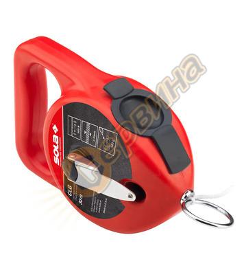Маркиращ шнур - чертилка зидарска Sola CLG 66111101 - 30м +