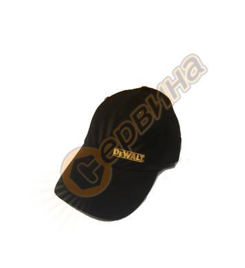 Шапка с козирка DeWalt D1213 - Черна