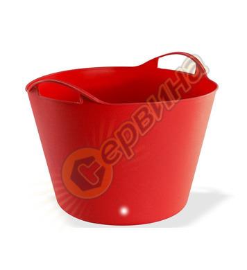 Строителен кош Dema 42 литра в червен цвят DEMA 15143