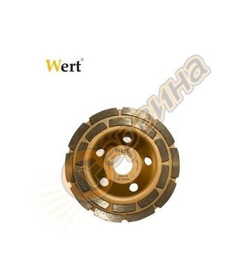Диамантен диск Wert - за шлайфане на бетон Ф 125мм 125x22.23